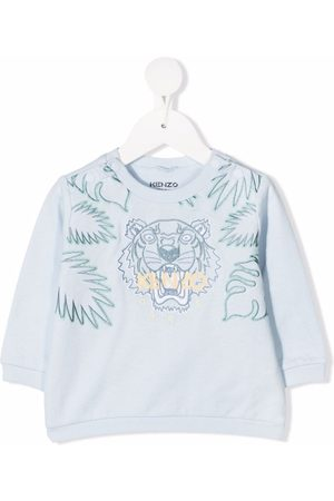Kenzo Sweaters - Tiger logo-embroidered sweatshirt