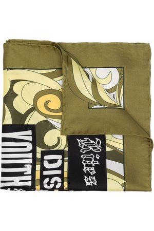 RAF SIMONS Heren Sjaals - Slogan-print silk scarf
