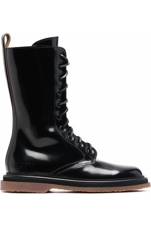 Buttero Dames Veterlaarzen - Polished-leather lace-up boots
