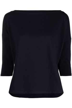 SNOBBY SHEEP Crop-sleeves jersey-knit top