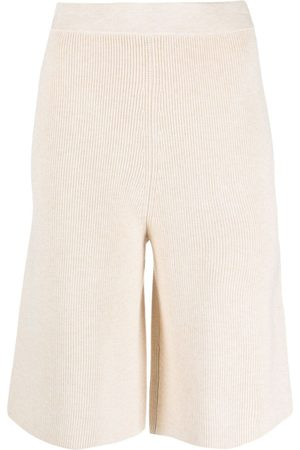 12 STOREEZ Dames Bermuda's - Knitted knee-length shorts