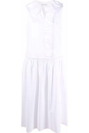 12 STOREEZ Ruffled-trim midi dress