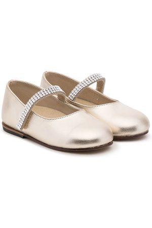 Babywalker Meisjes Instappers - Crystal-embellished ballerina shoes