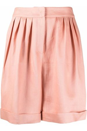 12 STOREEZ Dames Bermuda's - Pleated-waist shorts