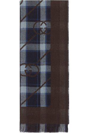 Gucci Heren Sjaals - Interlocking G checked scarf