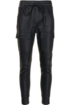 MANNING CARTELL Drawstring leather trousers