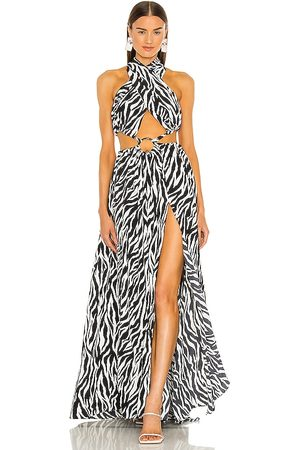Bronx and Banco Zebra Maxi Dress in