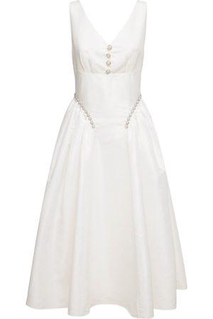 Self-Portrait Dames Midi jurken - Taffeta Sleeveless Midi Dress
