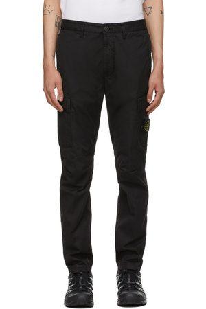 Stone Island Heren Cargo's - Black Stretch Poplin Cargo Pants