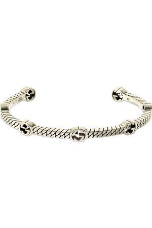 Gucci Heren Armbanden - Thin Interlocking G Cuff Bracelet