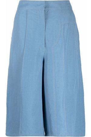 Salvatore Ferragamo Dames Bermuda's - Concealed fastening knee-length shorts