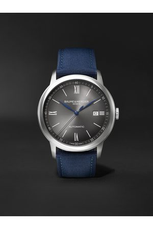Baume & Mercier Classima Automatic 42mm Stainless Steel and Canvas Watch, Ref. No. M0A10608