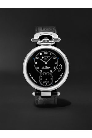 BOVET Heren Horloges - 19Thirty Fleurier Hand-Wound 42mm Stainless Steel and Leather Watch, Ref. No. NTR0029