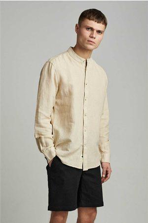 Anerkjendt Heren Overhemden - Aklukas ls cot/linen style 90019 5517 brown rice