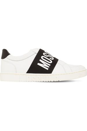 Moschino Heren Lage sneakers - Logo Leather Low Top Sneakers