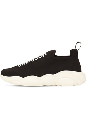 Moschino Stretch Slip-on Sneakers W/teddy Sole