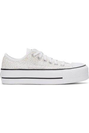 Converse White Breathable Platform All Star Low Sneakers