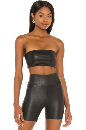 SPRWMN Leather Bandeau Top in
