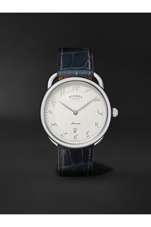 HERMÈS TIMEPIECES Montre Arceau Automatic 40mm Stainless Steel and Alligator Watch, Ref. No. 55547WW00