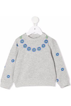 Stella McCartney Sweaters - Floral-embroidered sweatshirt