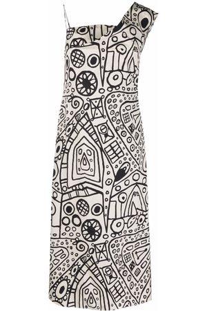 Colville Dames Asymmetrische jurken - Graphic-print one-shoulder dress