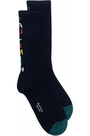 Paul Smith Logo-intarsia socks