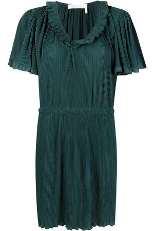See by Chloé Ruffled short-sleeved mini dress