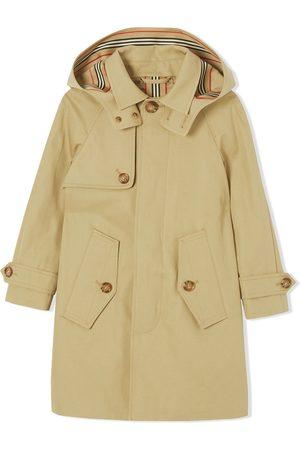Burberry Hooded gabardine trench coat