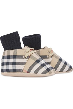 Burberry Vintage Check canvas booties