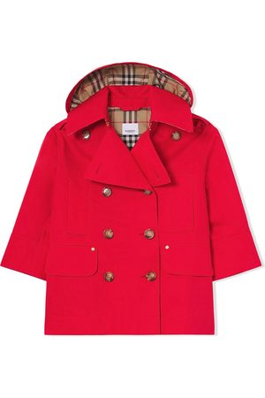 Burberry Detachable-hood trench coat