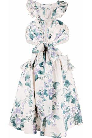 ZIMMERMANN Dames Feestjurken - Cut-out floral-print dress