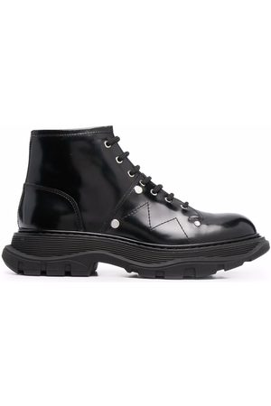 Alexander McQueen Tread lace-up ankle boots