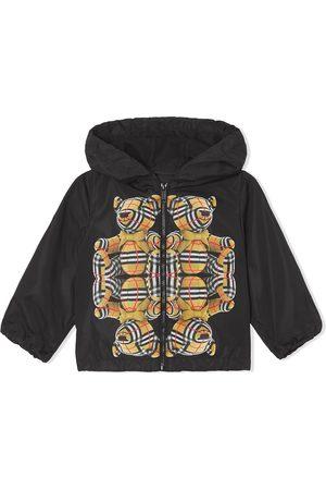 Burberry Bear-print hooded jacket