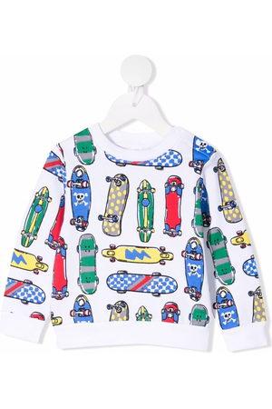 Stella McCartney Skateboard-print organic-cotton sweatshirt