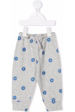 Stella McCartney Baby Joggingbroeken - Floral-embroidered sweatpants
