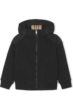 Burberry Monogram-quilt zip-fastening hoodie