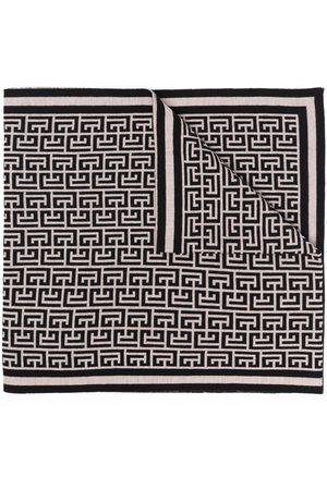 Balmain Monogram pattern scarf