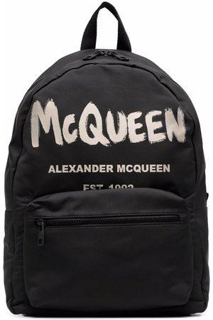 Alexander McQueen Graffiti Metropolitan printed backpack