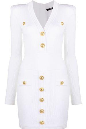 Balmain Button-detail minidress