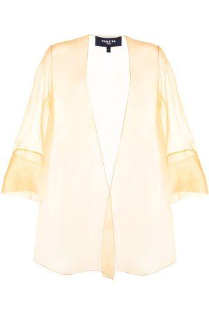 Paule Ka Organza tie-front wrap jacket