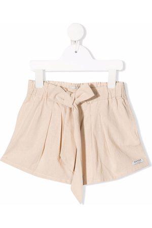 Donsje Tied-waist cotton shorts