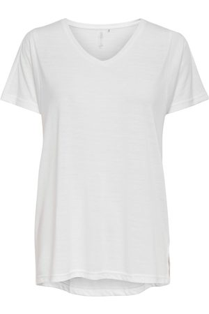ONLY Dames Sport - Solid Colored Training Top Dames White