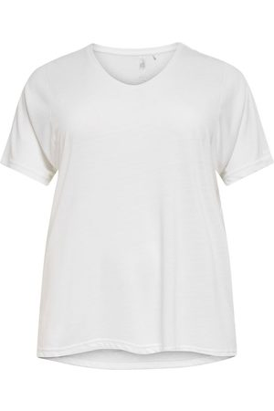 Only Curvy Solid Colored Training Top Dames White