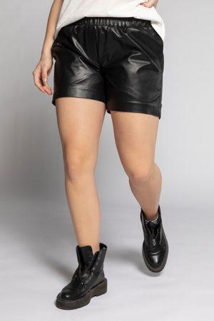STUDIO UNTOLD Grote Maten Fake Leren Shorts, Dames