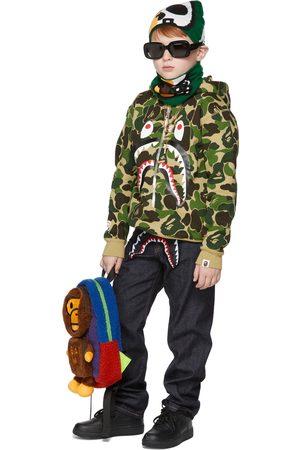 BAPE Hoodies - Kids Green ABC Camo Shark Pullover Hoodie