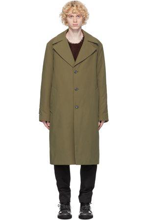 Maison Margiela Heren Trenchcoats - Green Cotton Twill Trench Coat