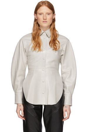 Isabel Marant Off-White Leather Xiao Shirt