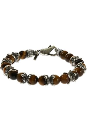 EMANUELE BICOCCHI Heren Armbanden - Tiger Eye Beaded Chain Bracelet