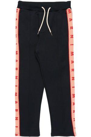 MARNI JUNIOR Cotton Sweatpants W/ Logo Bands