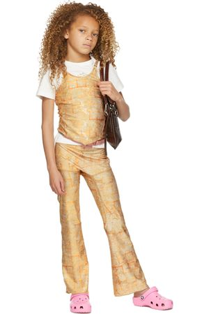 Charlotte Knowles SSENSE Exclusive Kids Beige Halcyon Leggings
